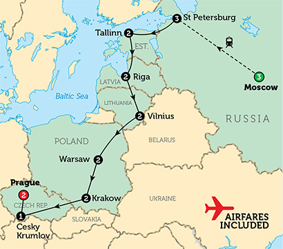 moscow-to-prague-map
